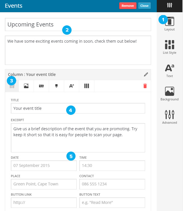 events-widget